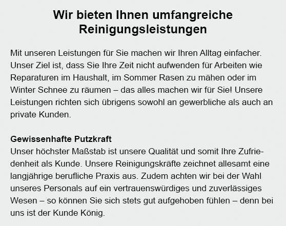 Putzkraft in  Rockenberg, Friedberg (Hessen), Lich, Echzell, Münzenberg, Butzbach (Friedrich-Ludwig-Weidig-Stadt), Wölfersheim oder Ober-Mörlen, Bad Nauheim, Langgöns